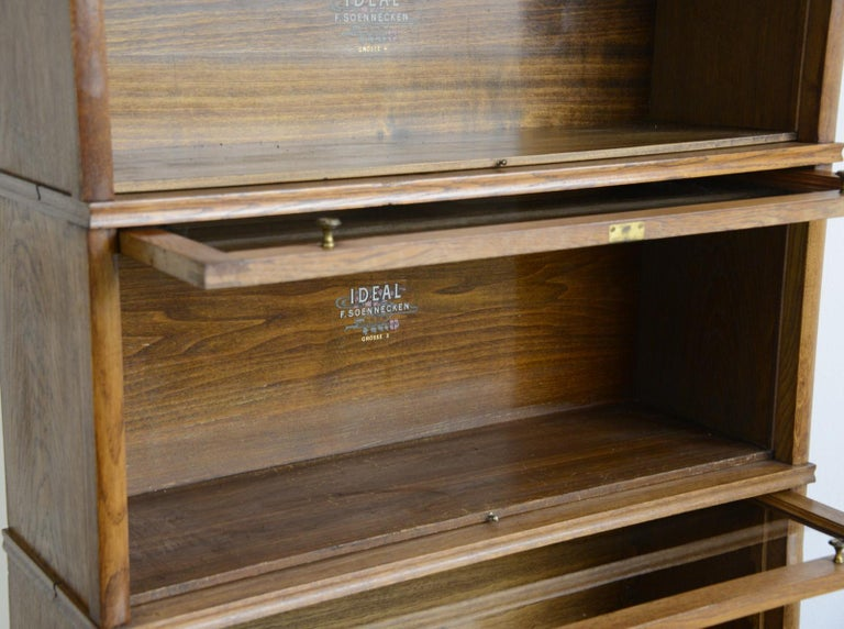 Large Early 20th Century Bookcase by Soennecken For Sale 4