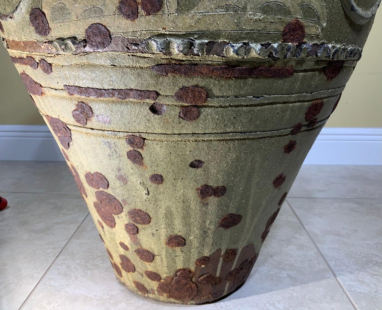 Large Early 20th Century Chinese Terracotta Jar For Sale 8
