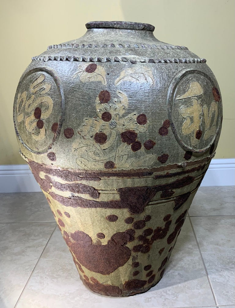 Large Early 20th Century Chinese Terracotta Jar For Sale 9