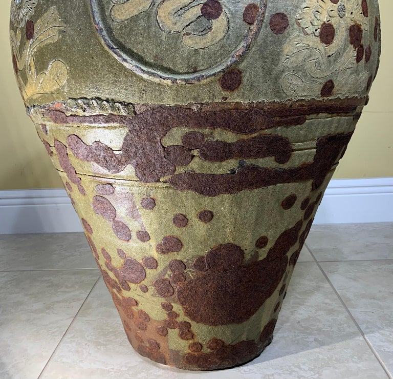 Large Early 20th Century Chinese Terracotta Jar For Sale 12
