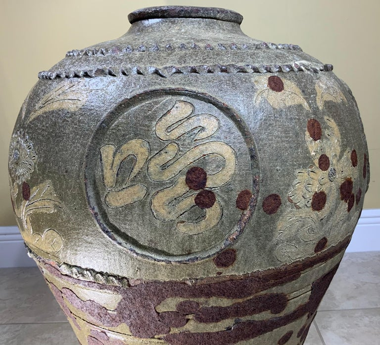 Large Early 20th Century Chinese Terracotta Jar For Sale 13