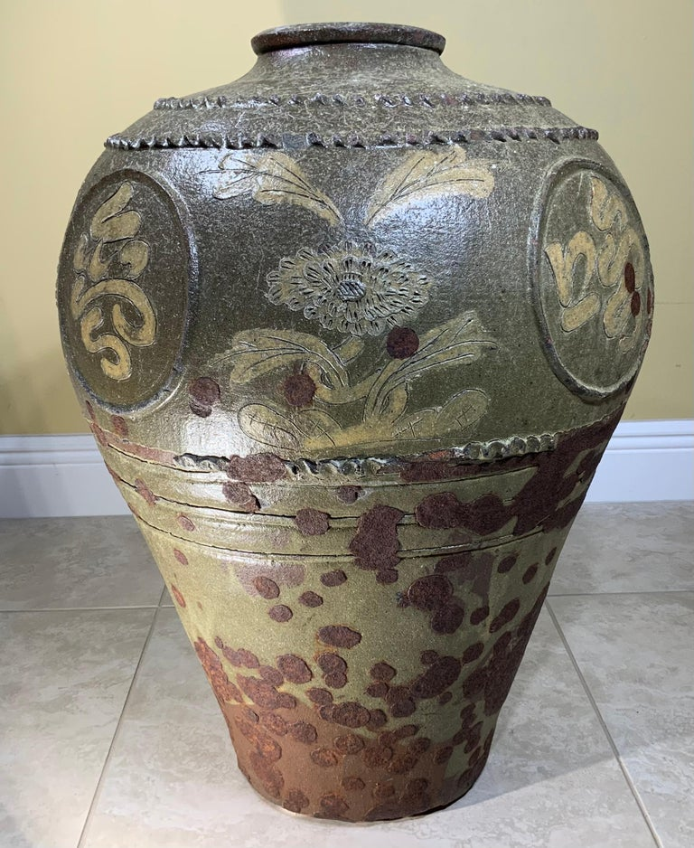 Large Early 20th Century Chinese Terracotta Jar For Sale 16
