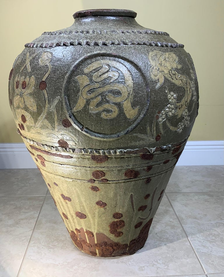 Large Early 20th Century Chinese Terracotta Jar For Sale 3