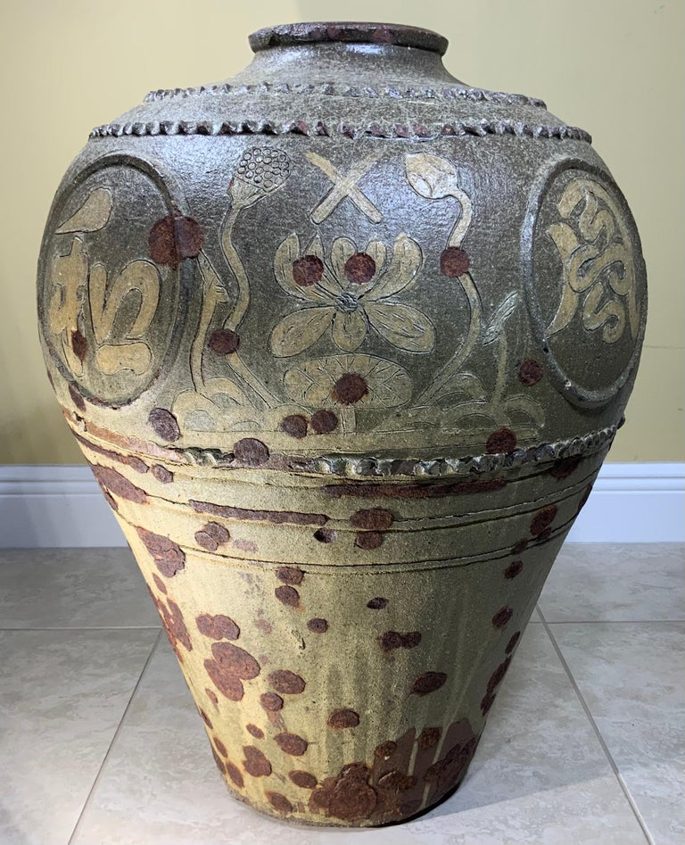 Large Early 20th Century Chinese Terracotta Jar For Sale 5