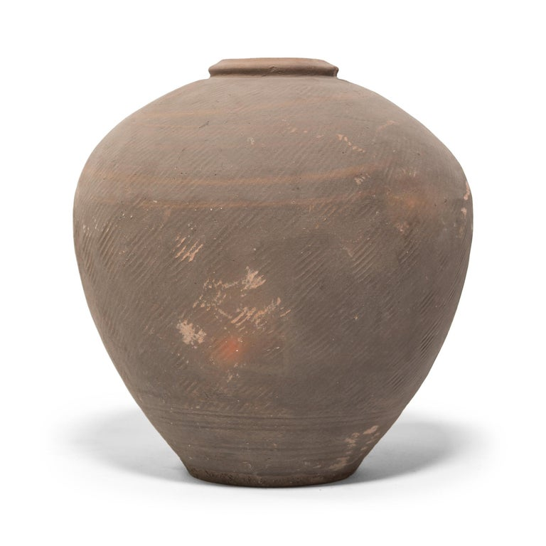 Qing Large Early 20th Century Chinese Wine Jar For Sale