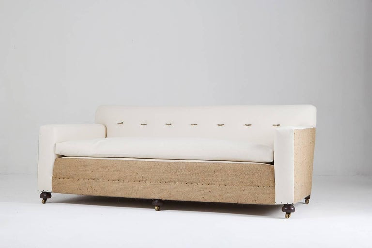 Excellent quality, large English sofa, circa 1910.