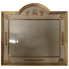Large Early 20th Century French Belle Epoque Gilt Bronze Photo Frame