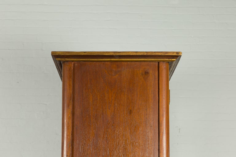 Large Early 20th Century Indonesian Cabinet with Beveled Glass Doors and Drawers For Sale 10