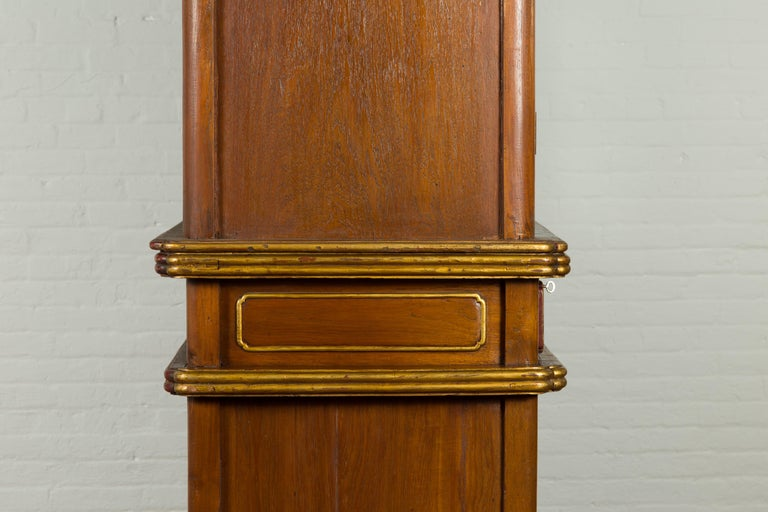 Large Early 20th Century Indonesian Cabinet with Beveled Glass Doors and Drawers For Sale 11