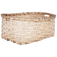 Large Early 20th Century Pine Woven Basket