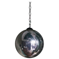 Large Early 20th Century Witches Ball Mirror