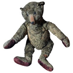 Large Early 20th Century Golden Mohair Jointed Steiff Teddy Bear circa 1905-1909