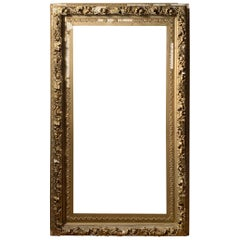 Large Early Antique Gilt / Gilded French Mirror / Art Frame
