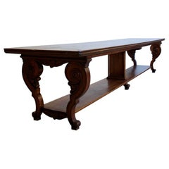 Large Early 19th Century French Walnut Dining Table