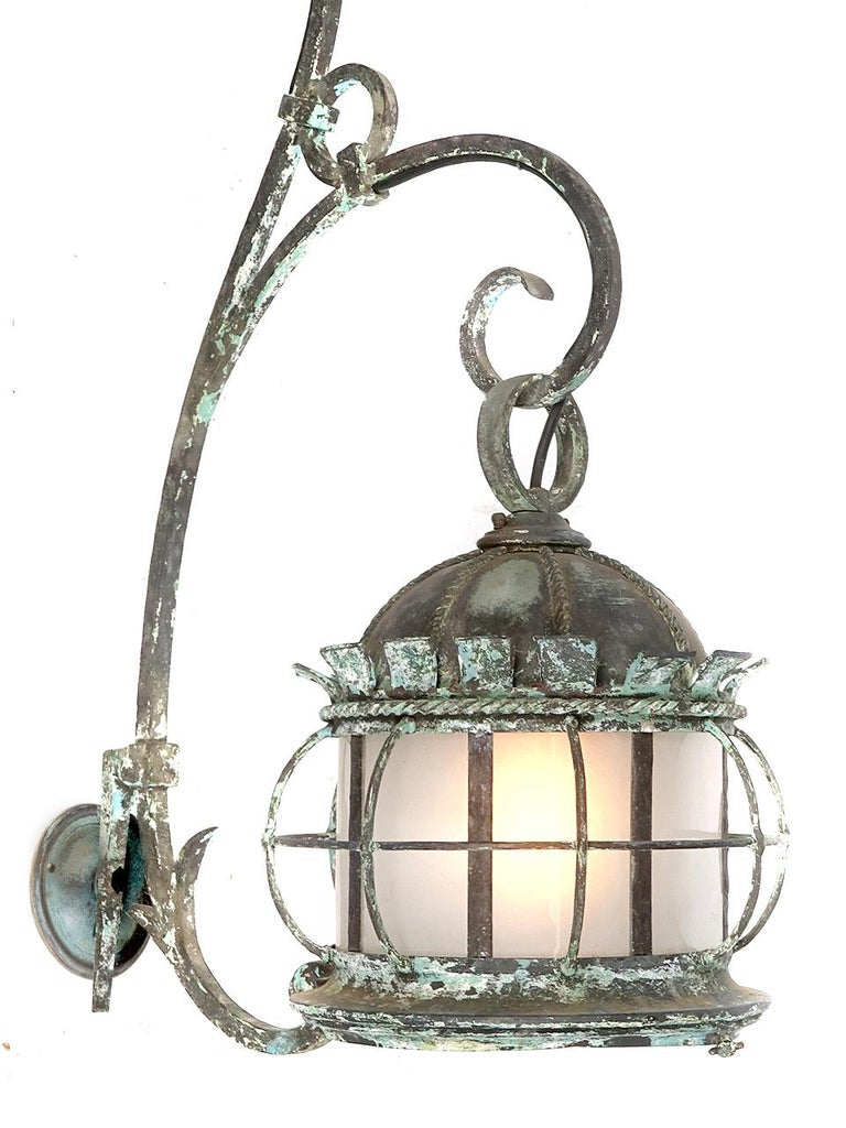 Arts and Crafts Large Early Estate Sconce For Sale