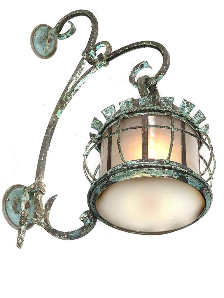American Large Early Estate Sconce For Sale