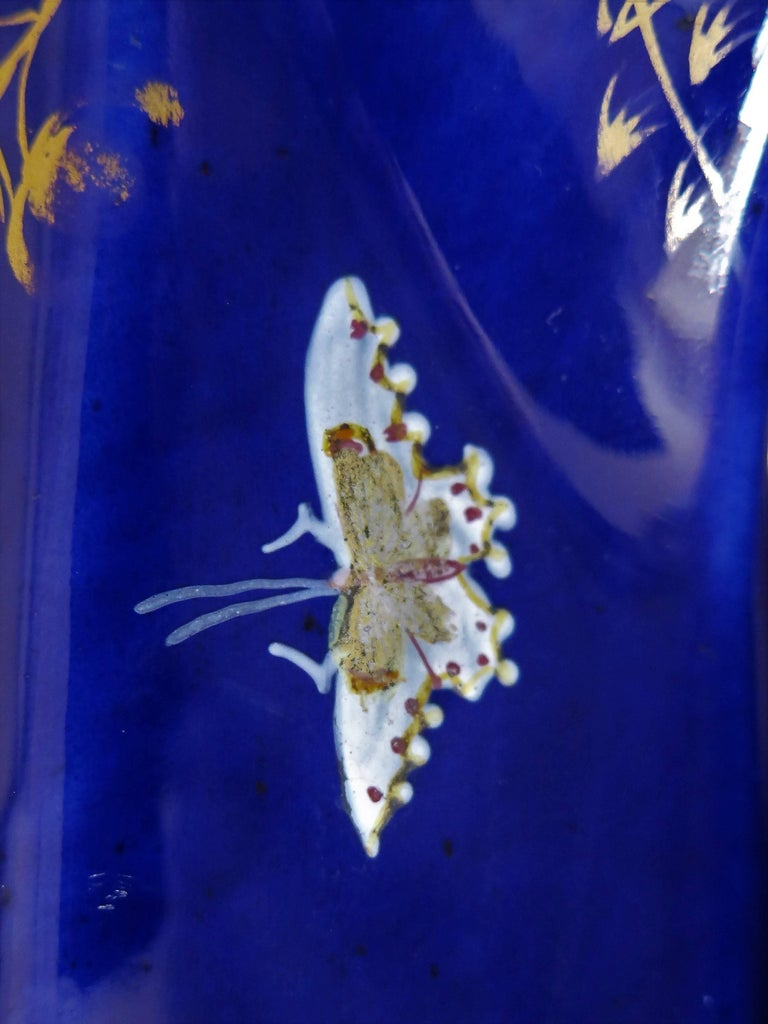 Large Early Masons Ironstone Jug or Pitcher Hand-Painted Butterflies, Circa 1825 For Sale 11