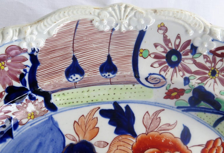 Large Early Mason's Ironstone Platter in Vase and Rock Pattern, Circa 1815 For Sale 4