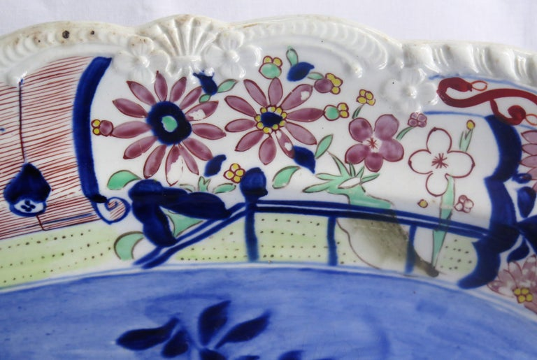 Large Early Mason's Ironstone Platter in Vase and Rock Pattern, Circa 1815 For Sale 2