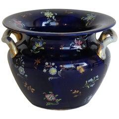 Large Early Masons Ironstone Pot-Pourri Vase Hand Painted Flowers, circa 1820