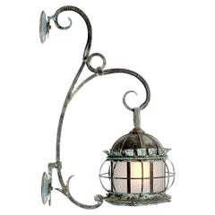 Large Early Rustic Estate Sconce