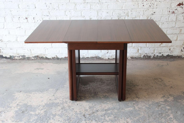 Large Edward Wormley for Dunbar Mahogany Extension Dining Table For Sale 2