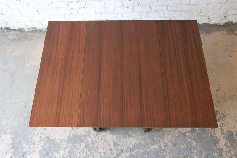 Large Edward Wormley for Dunbar Mahogany Extension Dining Table For Sale 3