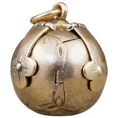 Large Edwardian Masonic Folding Orb Gold Pendant