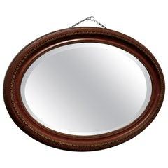 Large Edwardian Oval Wall Mirror