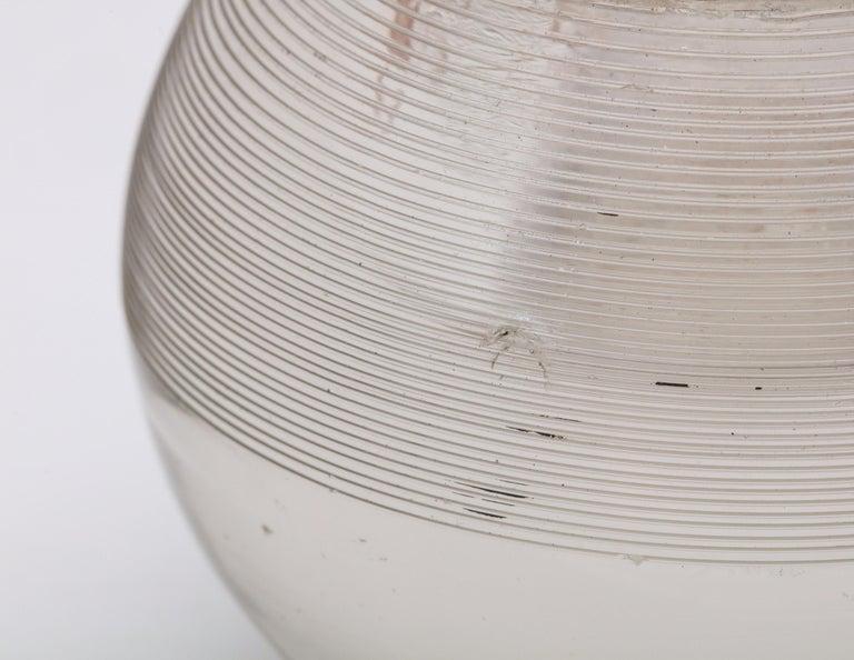 Large Edwardian Sterling Silver-Mounted Threaded Crystal Match Striker For Sale 2