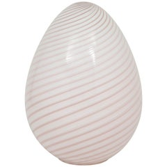 Large Egg Lamp by Vetri Murano