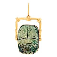 Large Egyptian Taste Scarab Pendant
