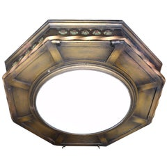 Large Eight-Light Hexagonal Theater Flush Mount
