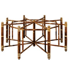 Large Elegant Restored Vintage Circular Dining or Center Table by McGuire