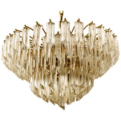 Large Elegant Six-Tier Cristal Venini Chandelier, 1960