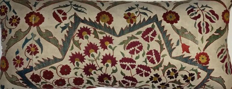 Uzbek Large Embroidery Suzani Pillow For Sale