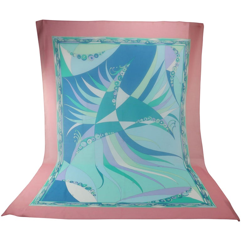 Large Emilio Pucci Cotton Sarong Length Scarf For Sale