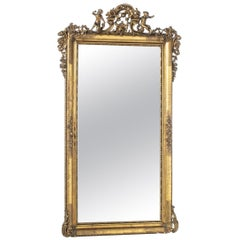 Large Empire French Mirror, 19th Century