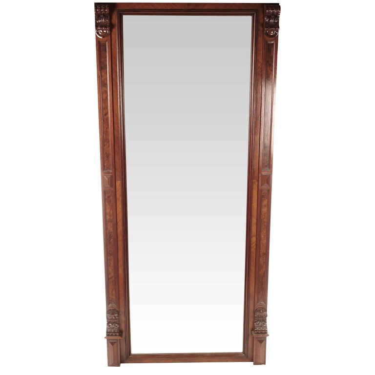 Large Empire Mahogany Mirror from Sweden, 1820s
