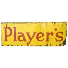 Large Enamel Advertising Sign for Player's Tobacco, 1950