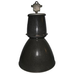 Large Enameled Czech Industrial Ceiling Light