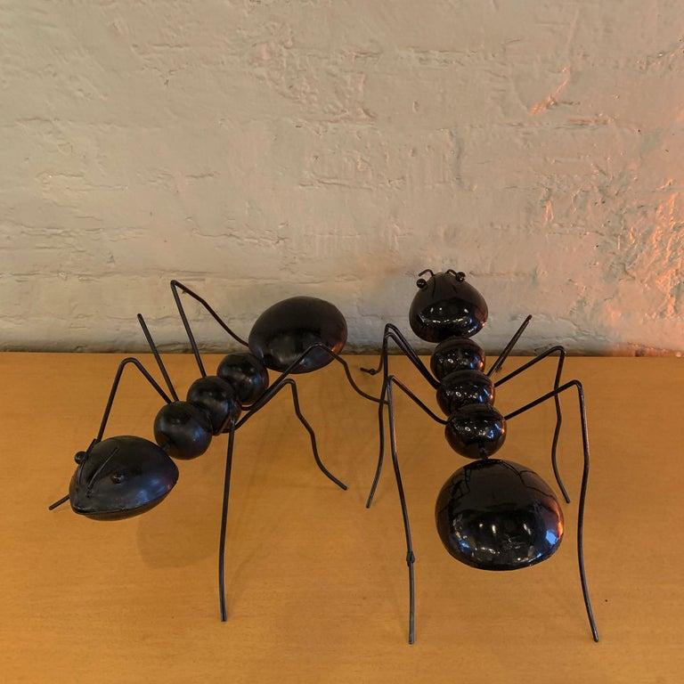 Mid-Century Modern Large Enameled Metal Ant Sculptures For Sale