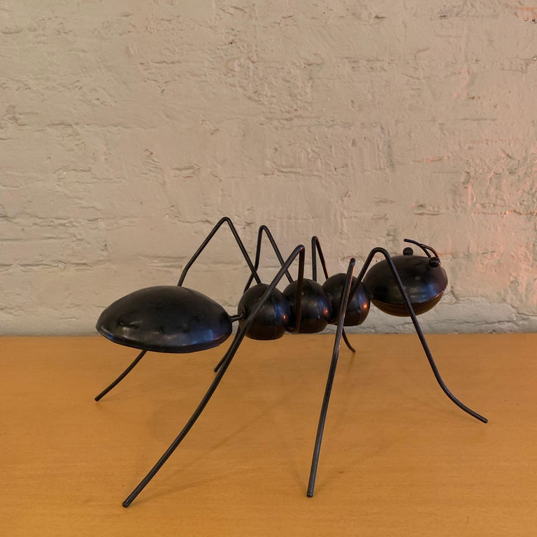 Large Enameled Metal Ant Sculptures In Good Condition For Sale In Brooklyn, NY