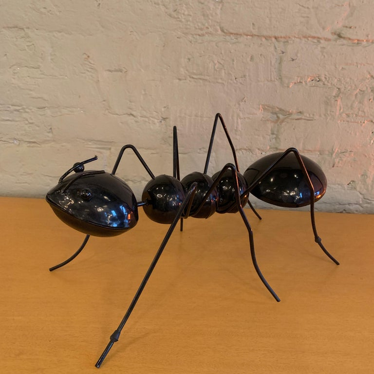 20th Century Large Enameled Metal Ant Sculptures For Sale