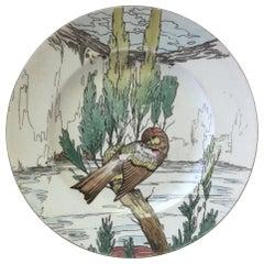 Large English Bird Plate Mintons, circa 1900