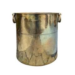 Large English Brass Kindling Bucket, circa 1880