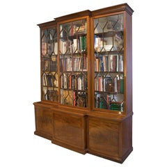 Large English Breakfront in Mahogany, 19th Century