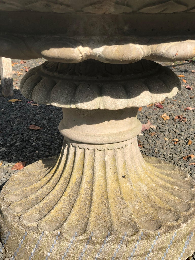 Large English Cast Stone Tazza-Form Urn or Fountain For Sale 3