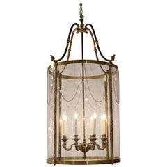 Large English Classical Bronze Lantern