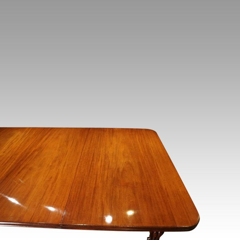 Large English Country Mansion Victorian 12+Seat Mahogany Dining Table circa 1860 For Sale 1